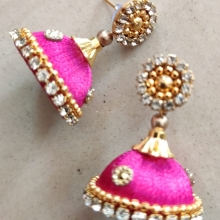 Silk thread earrings